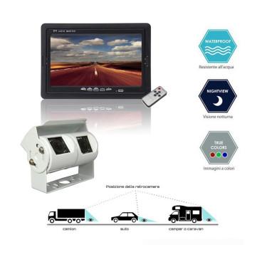 Sistema di retrovisione con monitor 7...